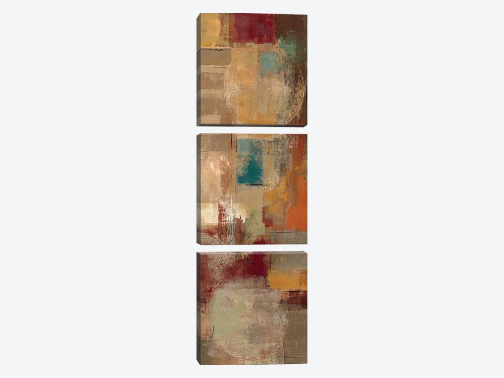Oriental Trip Panel II  by Silvia Vassileva 3-piece Canvas Art