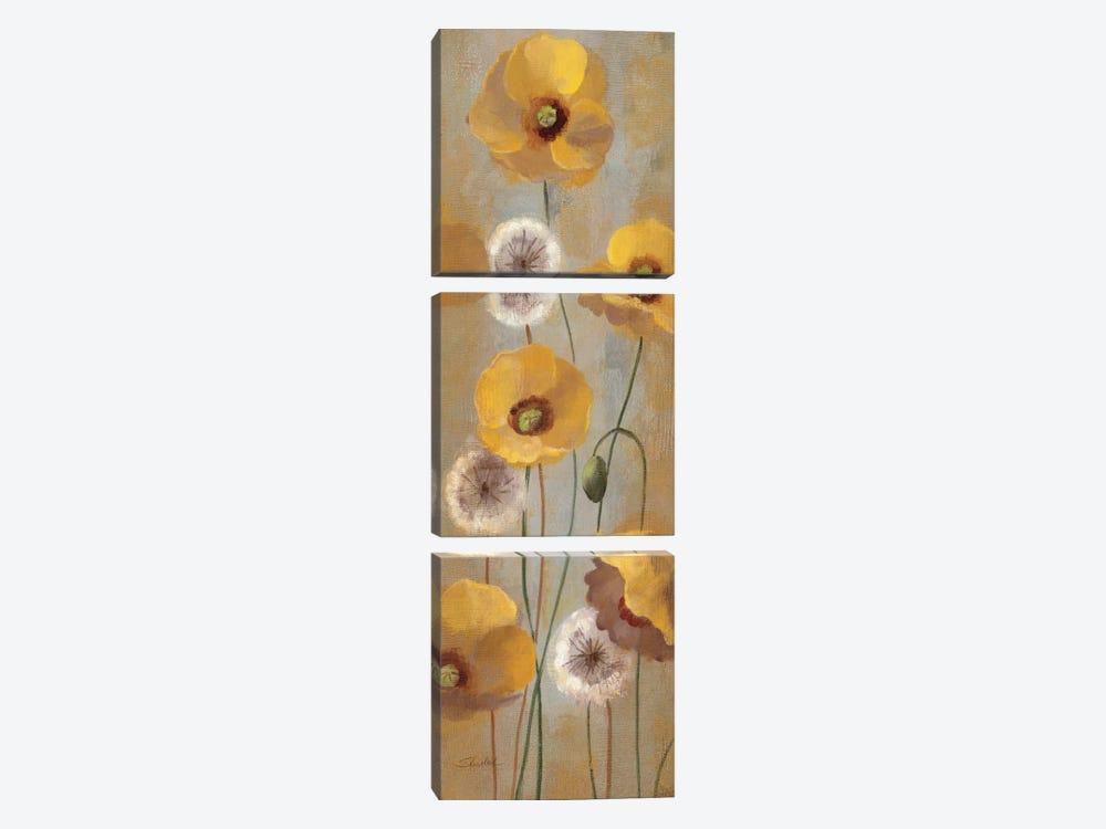 Spring Poppies I  by Silvia Vassileva 3-piece Art Print
