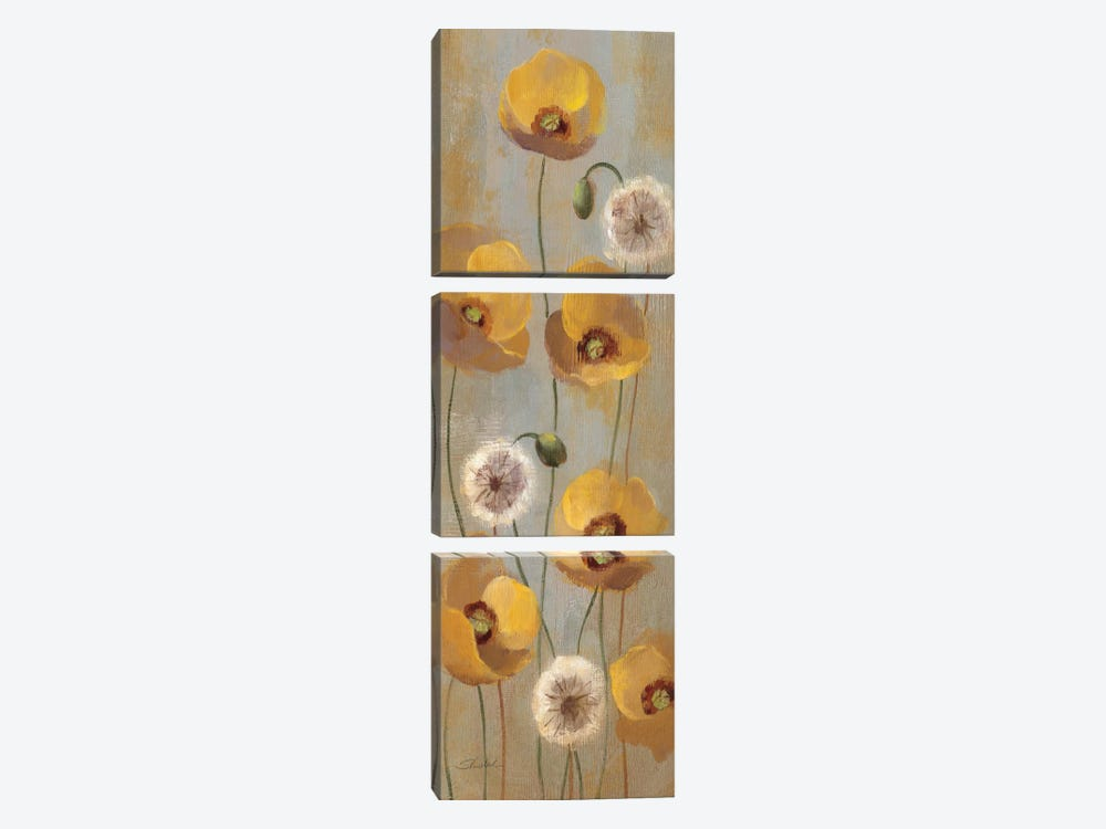 Spring Poppies II by Silvia Vassileva 3-piece Canvas Wall Art