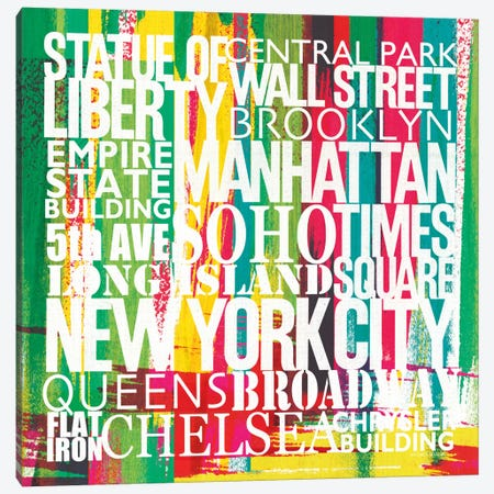 New York City Life Patterns VII  Canvas Print #WAC2129} by Michael Mullan Canvas Wall Art