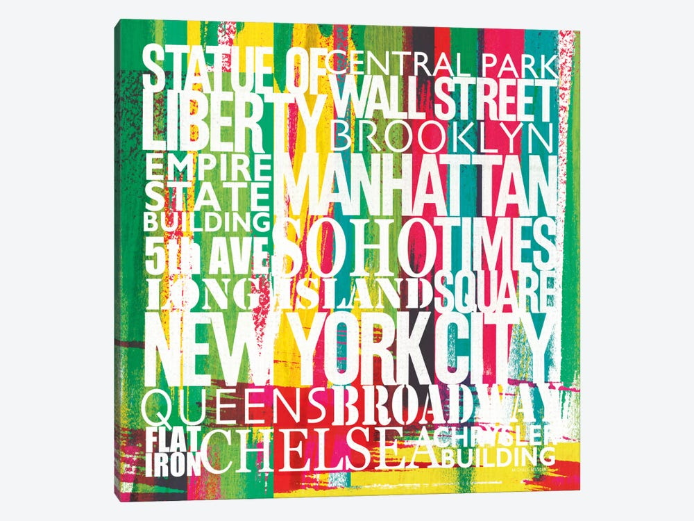 New York City Life Patterns VII by Michael Mullan 1-piece Canvas Wall Art