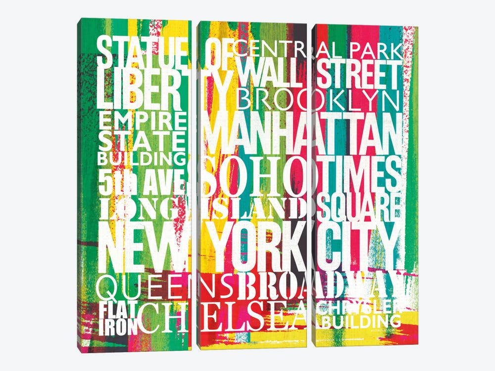 New York City Life Patterns VII by Michael Mullan 3-piece Canvas Art