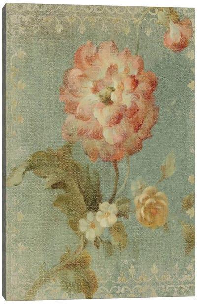 Poppy on Sage Canvas Print #WAC212