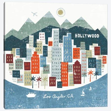 Colorful Los Angeles  3-Piece Canvas #WAC2133} by Michael Mullan Art Print