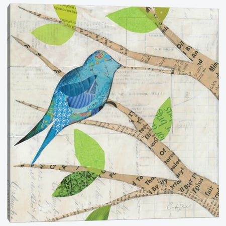 Birds in Spring I  Canvas Print #WAC2134} by Courtney Prahl Canvas Wall Art