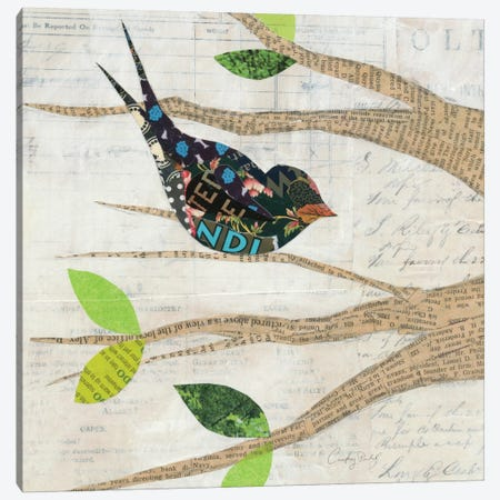 Birds in Spring III  Canvas Print #WAC2136} by Courtney Prahl Canvas Wall Art