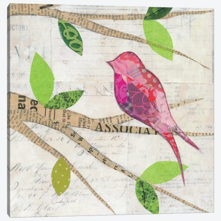 Birds in Spring IV  Canvas Print #WAC2137} by Courtney Prahl Canvas Artwork