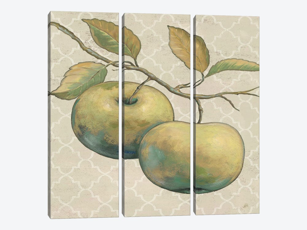Lovely Fruits II Neutral Crop 3-piece Canvas Art Print