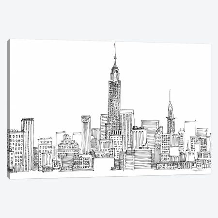 New York Skyline Crop  Canvas Print #WAC2147} by Avery Tillmon Canvas Print