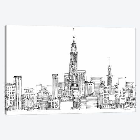New York Skyline Crop  Canvas Print #WAC2147} by Avery Tillmon Canvas Print