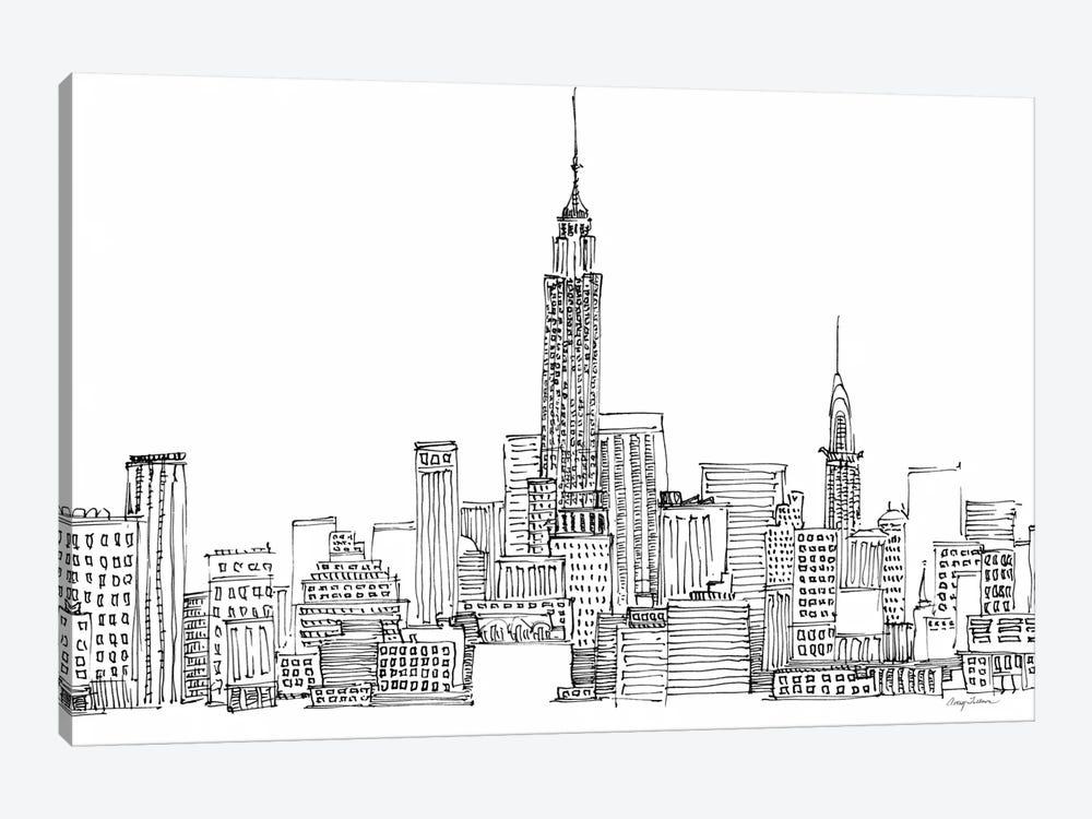 New York Skyline Crop  by Avery Tillmon 1-piece Canvas Art