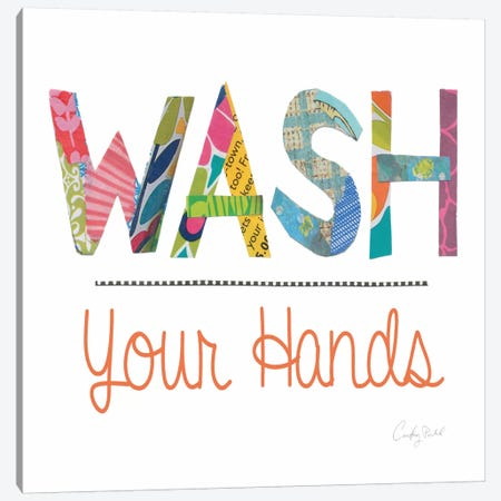 Wash Your Hands  Canvas Print #WAC2155} by Courtney Prahl Canvas Artwork