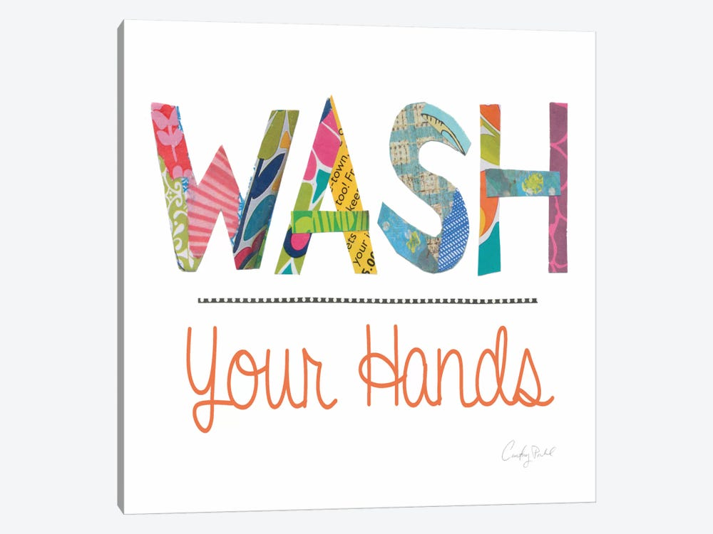 Wash Your Hands by Courtney Prahl 1-piece Canvas Art Print