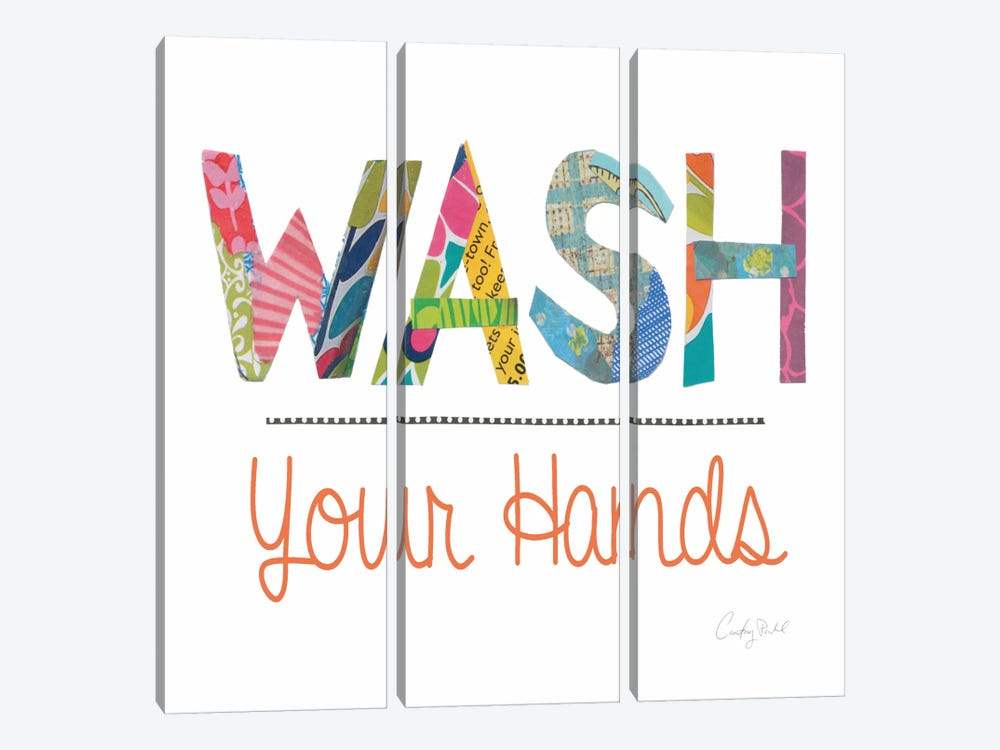Wash Your Hands by Courtney Prahl 3-piece Art Print