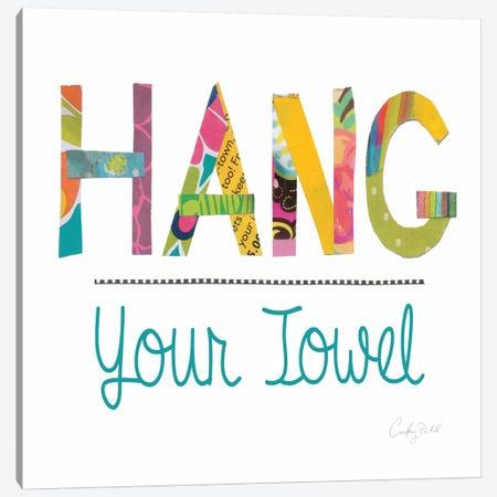 Hang Your Towel  Canvas Print #WAC2156} by Courtney Prahl Canvas Wall Art