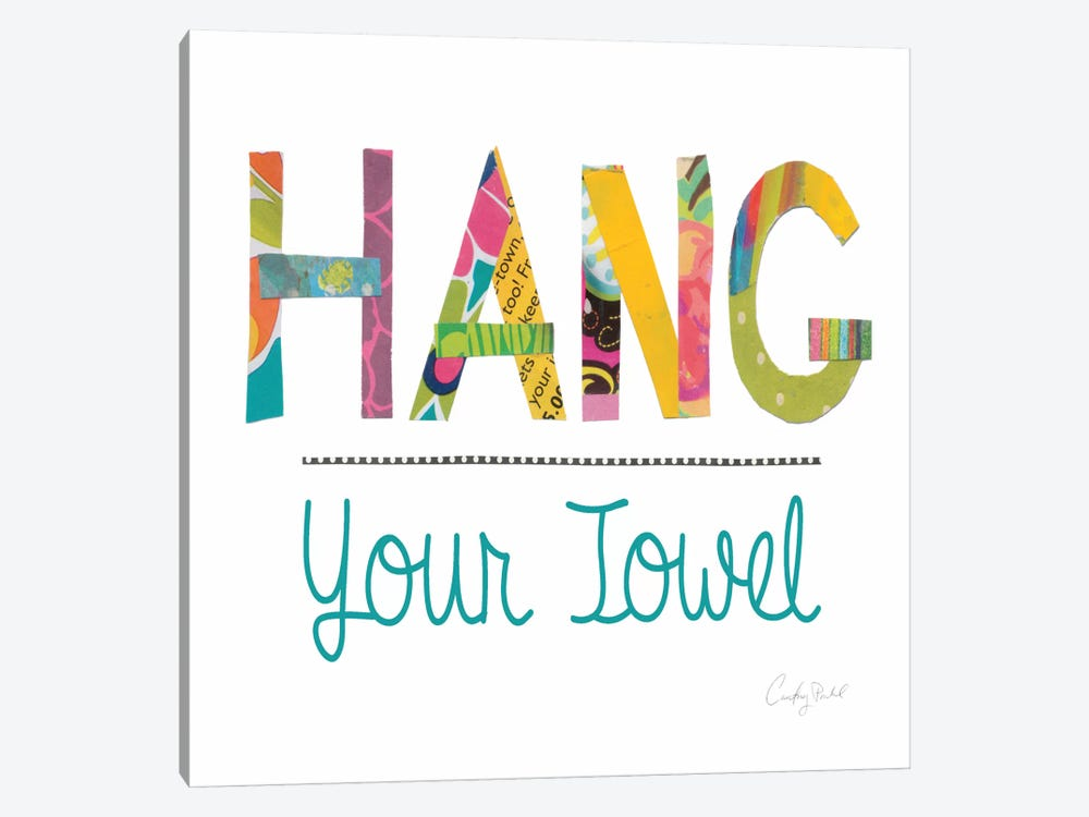 Hang Your Towel by Courtney Prahl 1-piece Canvas Art