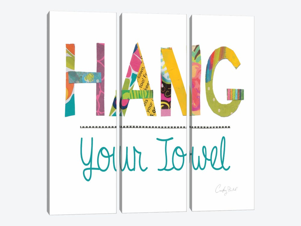 Hang Your Towel by Courtney Prahl 3-piece Canvas Artwork