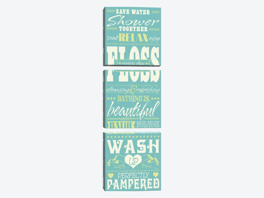 Wash Up II by Pela Studio 3-piece Canvas Print