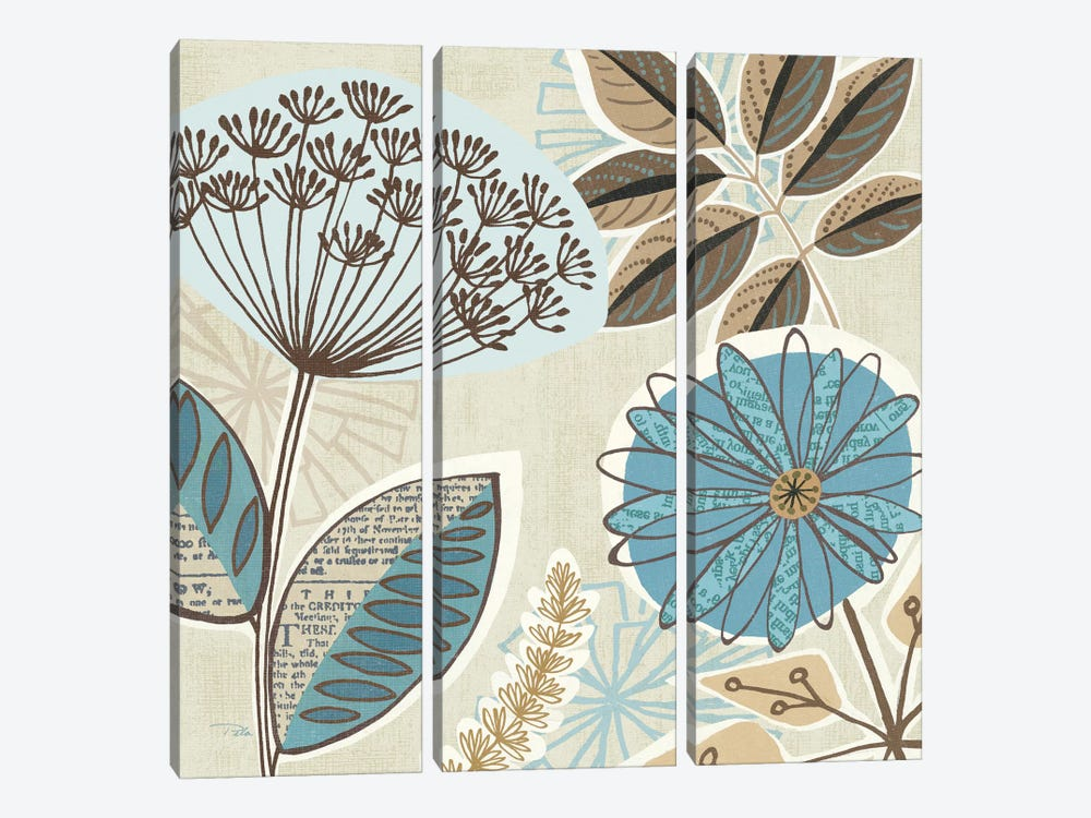 Funky Flowers IV by Pela Studio 3-piece Canvas Art