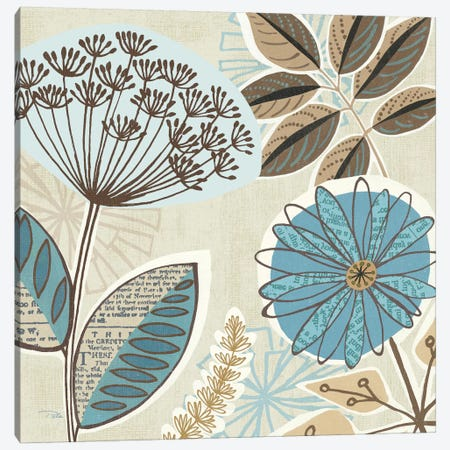 Funky Flowers IV  Canvas Print #WAC2165} by Pela Studio Canvas Art Print