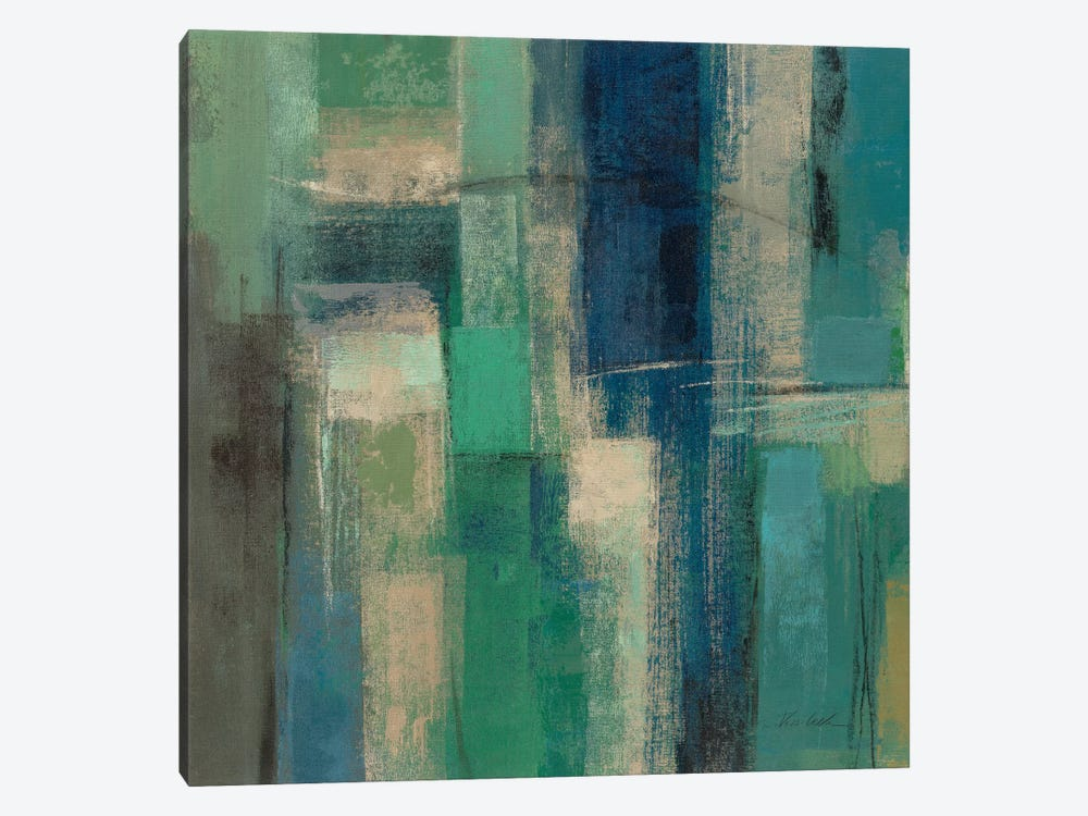 Emerald Fields Square I  by Silvia Vassileva 1-piece Canvas Wall Art