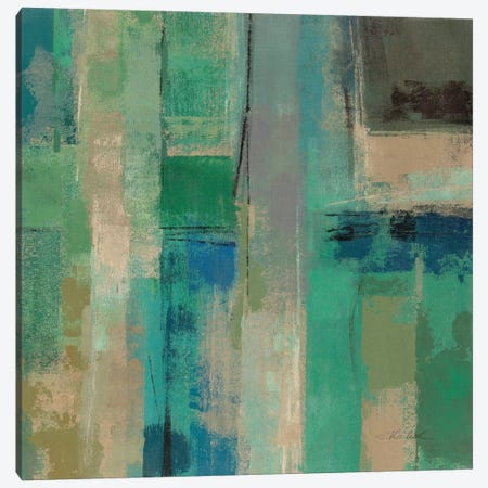 Emerald Fields Square II  Canvas Print #WAC2168} by Silvia Vassileva Canvas Art