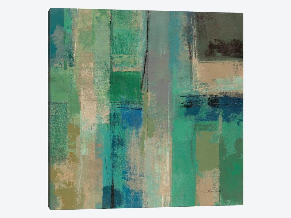 Emerald Fields Square II  by Silvia Vassileva 1-piece Canvas Print