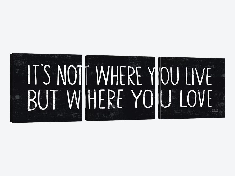 Its Where You Love  by Michael Mullan 3-piece Canvas Print