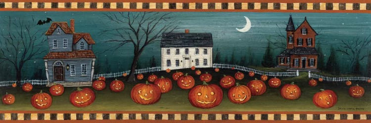 Halloween Eve Crescent Moon Canvas Art By David Carter Brown Icanvas
