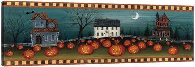 Halloween Eve Crescent Moon  Canvas Art Print