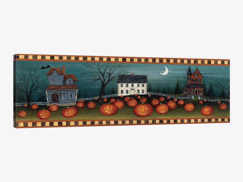 Halloween Eve Crescent Moon  by David Carter Brown 1-piece Canvas Wall Art