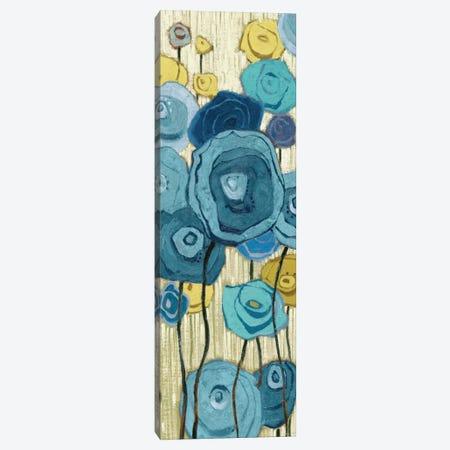 Lemongrass in Blue Panel I  Canvas Print #WAC2181} by Shirley Novak Canvas Wall Art