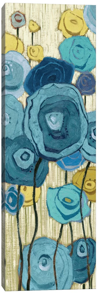 Lemongrass in Blue Panel I Canvas Art Print