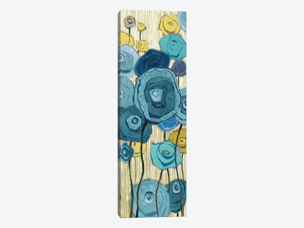 Lemongrass in Blue Panel I  by Shirley Novak 1-piece Canvas Wall Art