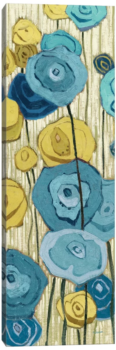 Lemongrass in Blue Panel II Canvas Art Print