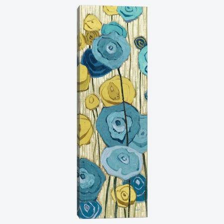 Lemongrass in Blue Panel II  3-Piece Canvas #WAC2182} by Shirley Novak Canvas Art