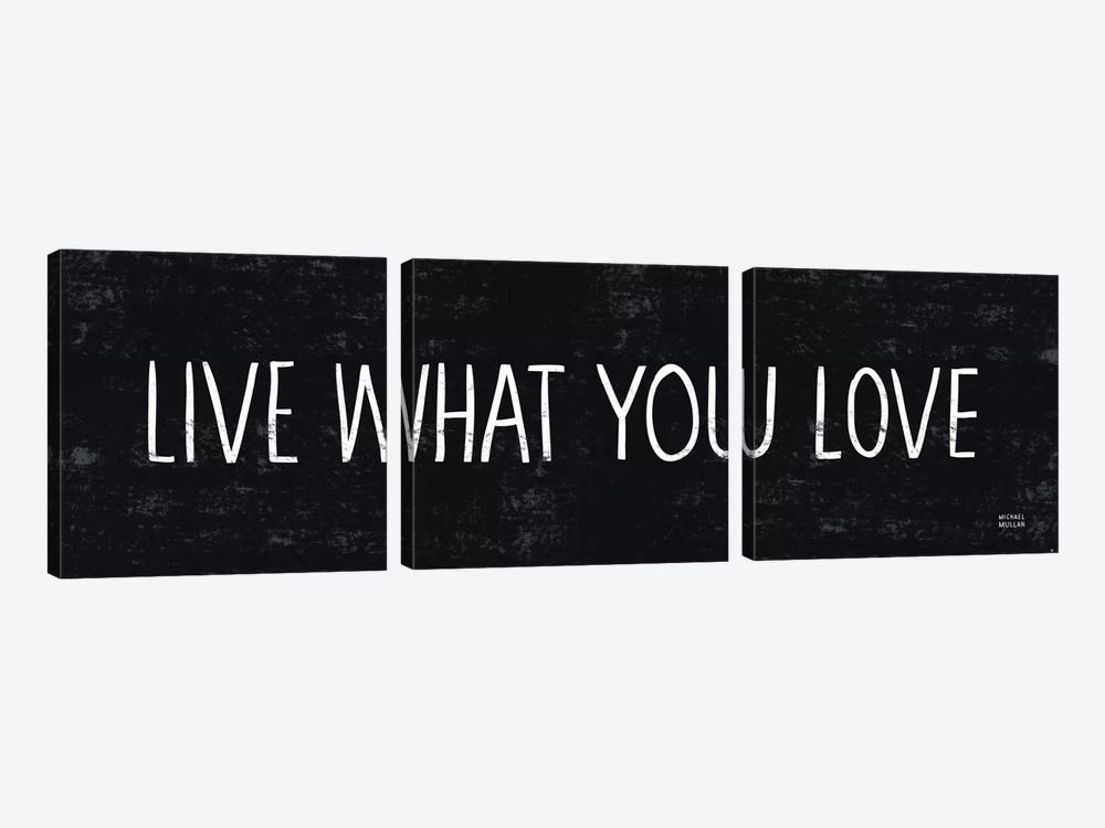 Live What You Love by Michael Mullan 3-piece Canvas Print