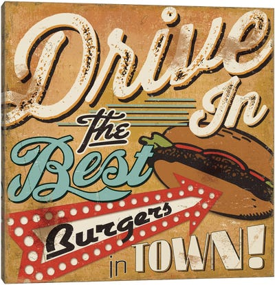 Diners and Drive Ins I Canvas Art Print