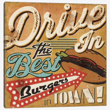 Diners and Drive Ins I Canvas Print #WAC2191} by Pela Studio Art Print
