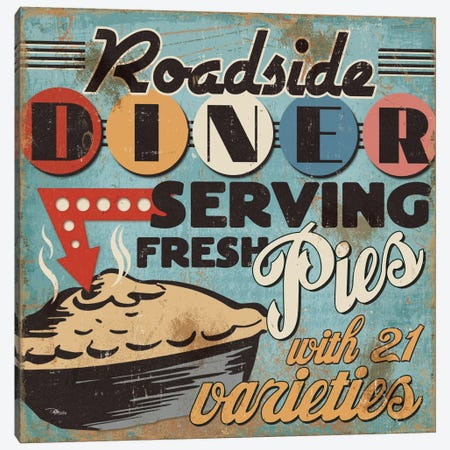 Diners and Drive Ins II Canvas Print #WAC2192} by Pela Studio Canvas Print