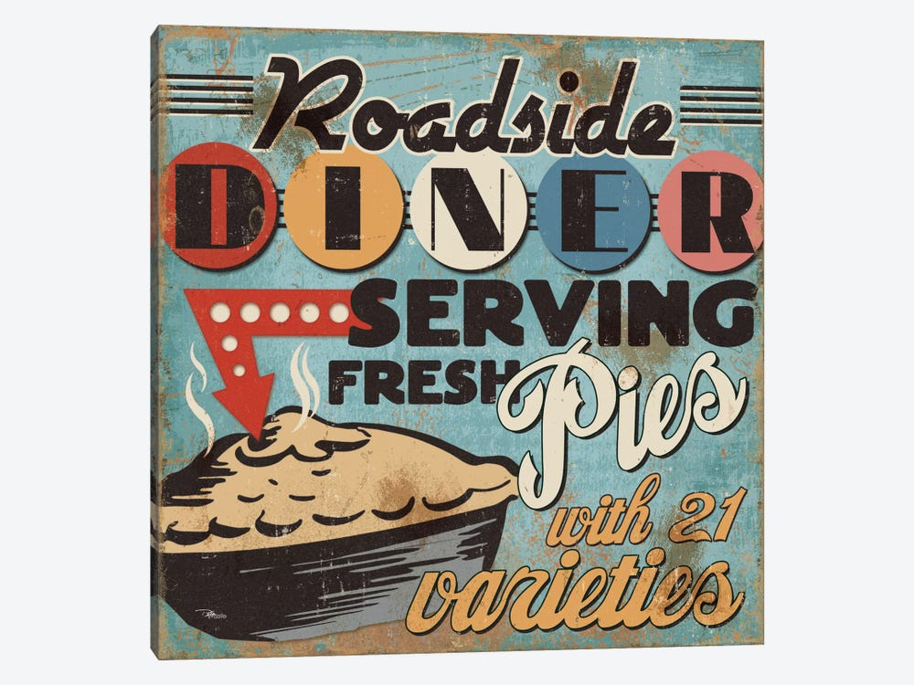 Diners and Drive Ins II by Pela Studio 1-piece Canvas Artwork