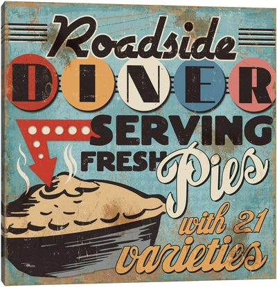 Diners and Drive Ins II Canvas Art Print
