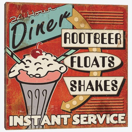 Diners and Drive Ins III Canvas Print #WAC2193} by Pela Studio Canvas Print