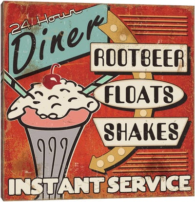 Diners and Drive Ins III Canvas Art Print