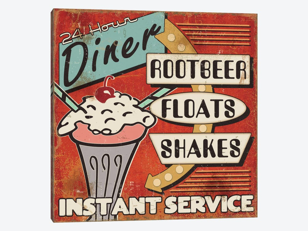 Diners and Drive Ins III by Pela Studio 1-piece Canvas Print
