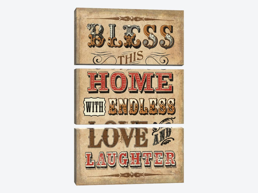 Blessed I by Pela Studio 3-piece Canvas Print