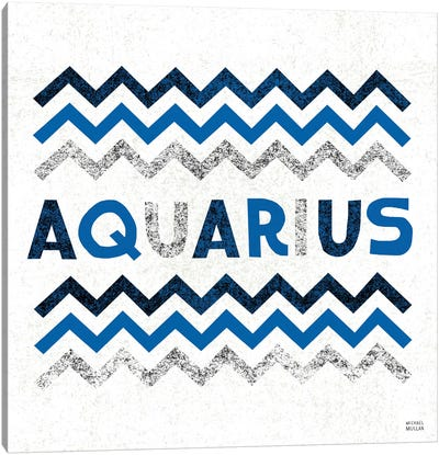 Zodiac Aquarius Canvas Art Print