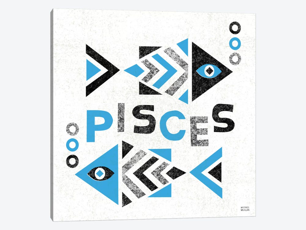 Zodiac Pisces by Michael Mullan 1-piece Canvas Wall Art