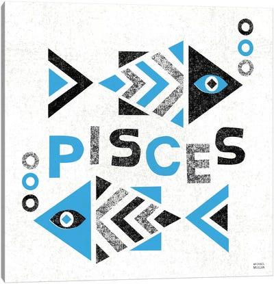 Zodiac Pisces Canvas Art Print