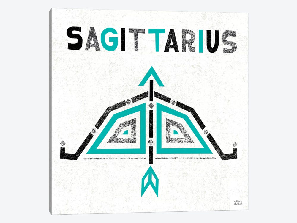 Zodiac Sagittarius by Michael Mullan 1-piece Canvas Artwork